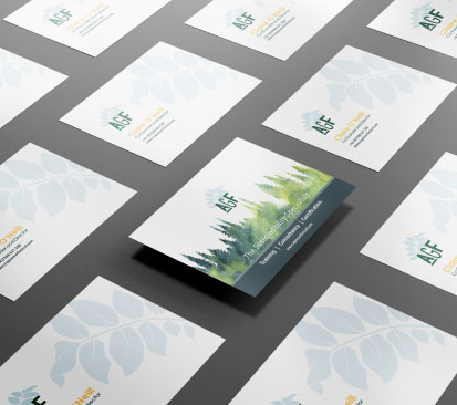 M3H Design business cards example