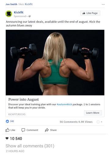 M3H Design facebook content example